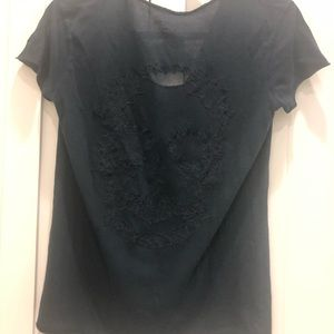 Zadig & Voltaire Tops - Story Fishnet Top in Encre